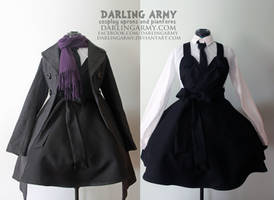 BBC Sherlock Holmes Wool Suiting Pinafore by DarlingArmy