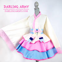 Sylveon - Pokemon - Gijinka Cosplay Kimono Dress by DarlingArmy