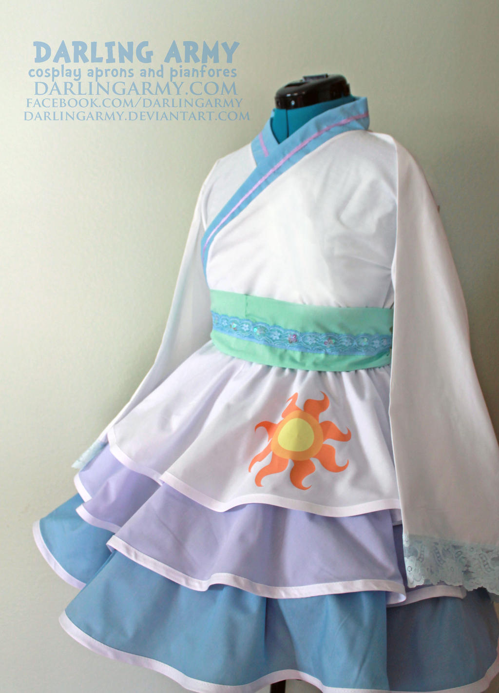 Princess Celestia - MLP - Cosplay Kimono Dress by DarlingArmy