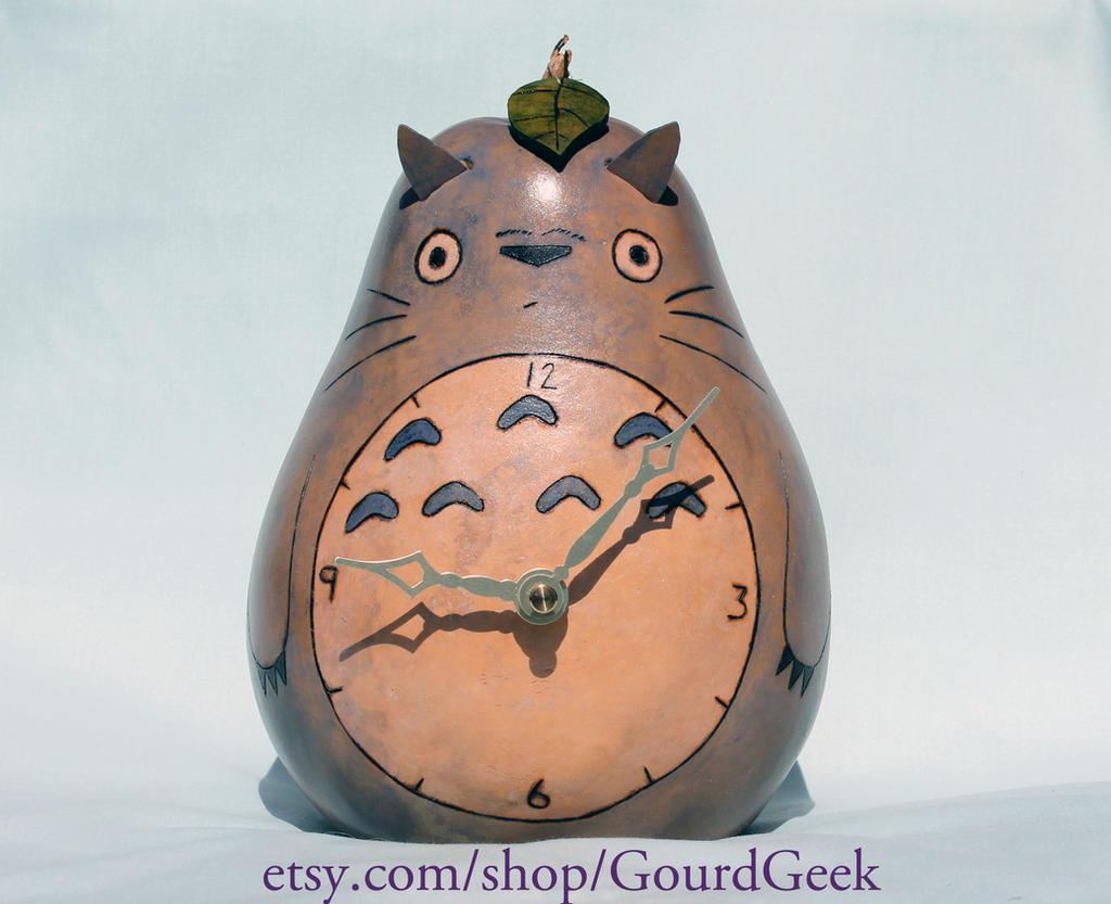 Totoro Gourd Clock by DarlingArmy