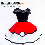 Pokeball Pokemon Cosplay Lolita Skirt