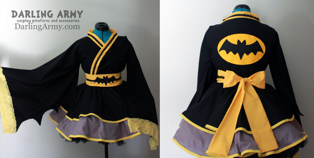 Batman Wa Lolita Cosplay Kimono Dress by DarlingArmy