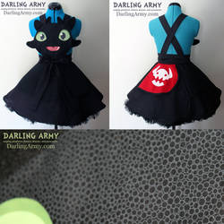 Toothless HtTYD Cosplay Pinafore Dress Accessory