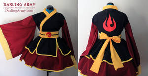 Azula Fire Nation Cosplay Kimono Dress