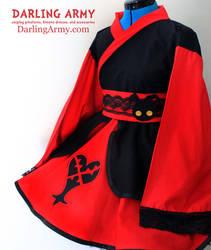 Heartless - Kingdom Hearts - Cosplay Kimono Dress by DarlingArmy