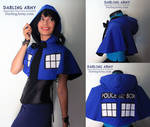 TARDIS Doctor Who Cosplay Hooded Capelet