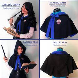 Ravenclaw Hogwarts - Harry Potter - Hooded Capelet by DarlingArmy