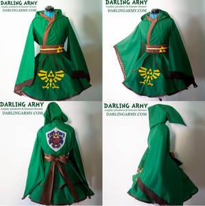 Link Legend of Zelda Hooded Cosplay Kimono Dress