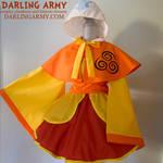 Airbender Avatar Cosplay Kimono Dress and Capelet