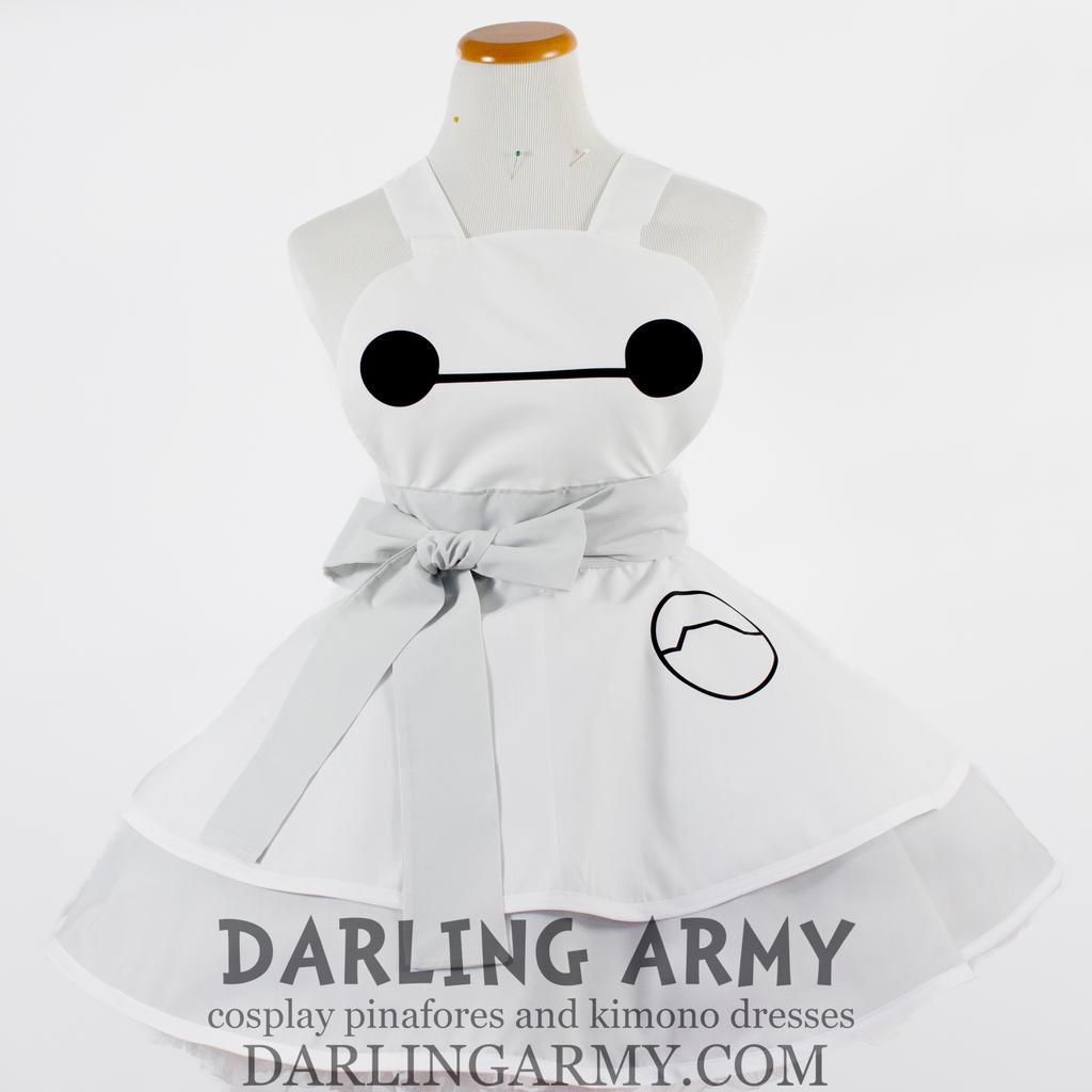 White apron pinafore - Faestock 527 49 Baymax Big Hero 6 Cosplay Pinafore By Darlingarmy