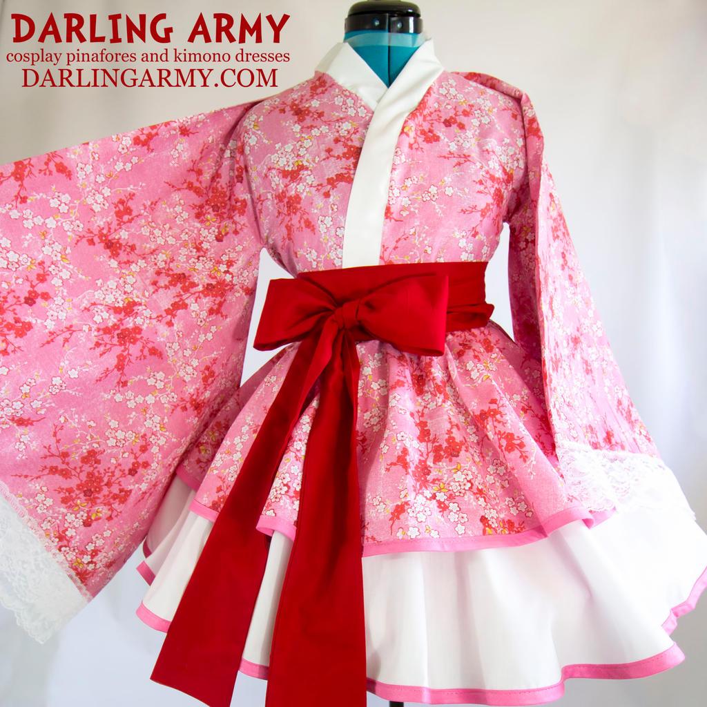 Pink Sakura Cosplay Kimono Dress by DarlingArmy