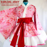 Pink Sakura Cosplay Kimono Dress