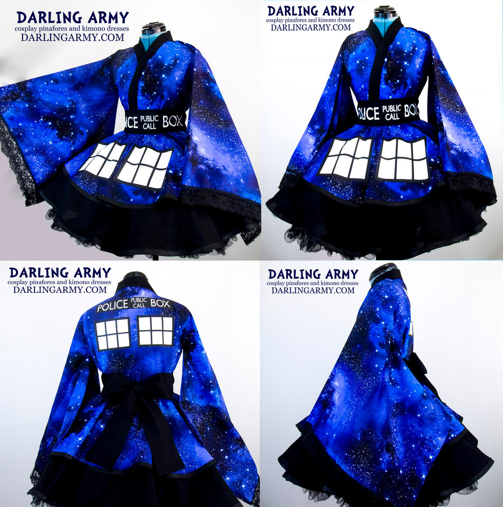 Doctor who tardis galaxy cosplay kimono dress by for Doctor who themed wedding dresses