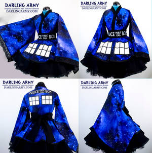 Doctor Who TARDIS Galaxy Cosplay Kimono Dress