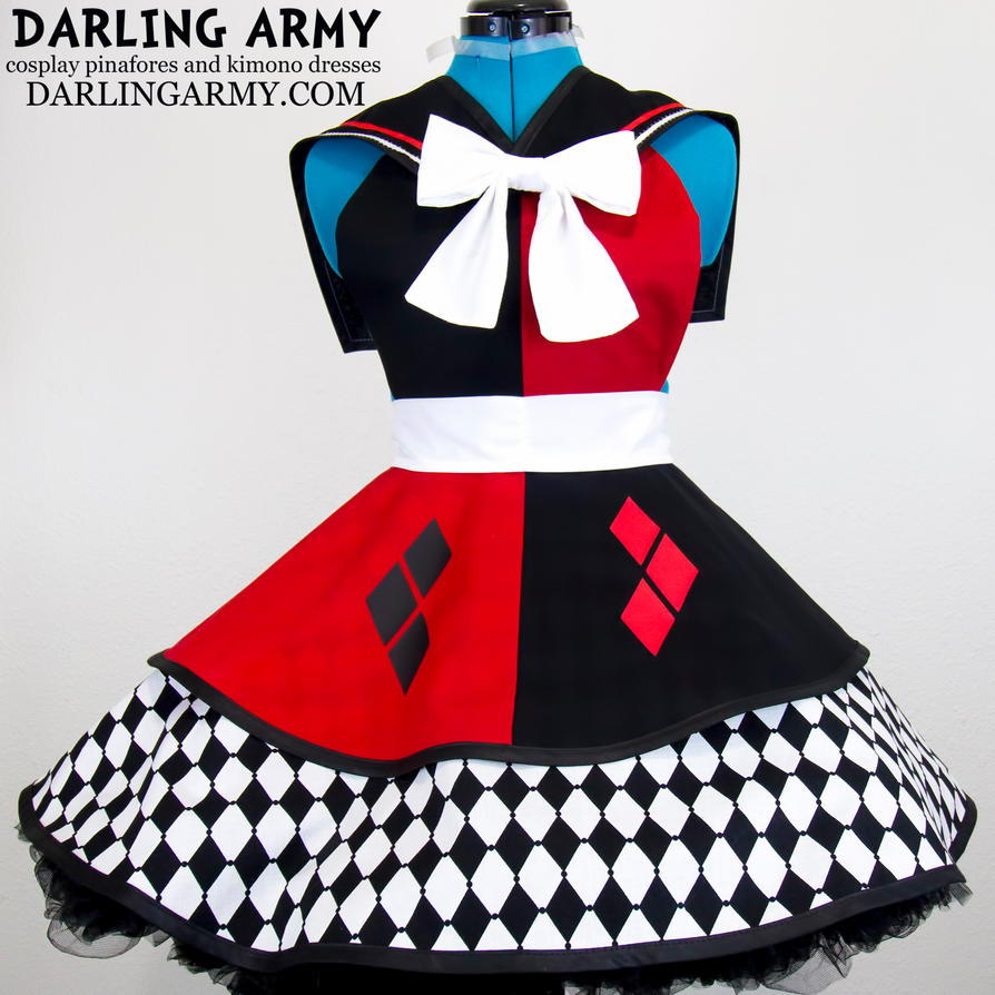 Sailor Scout Harley Quinn Batman Cosplay Pinafore by DarlingArmy