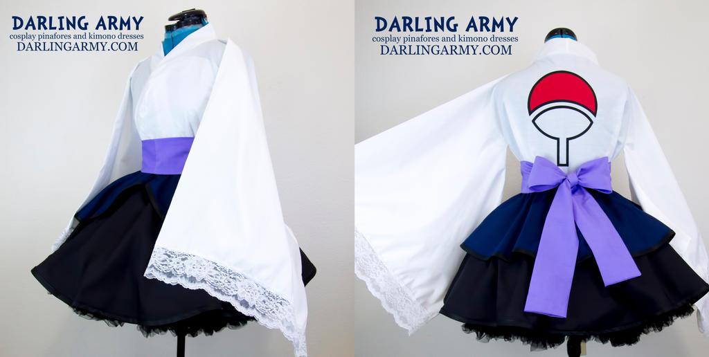 Uchiha Sasuke Shippuden Cosplay Kimono Dress