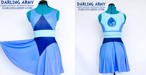 Lapis Lazuli Steven Universe Cosplay Printed Dress