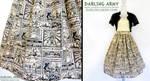 Legendary Hero Legend of Zelda Tea Length Skirt by DarlingArmy