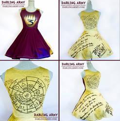 Gravity Falls Dipper Journal Cosplay Dress