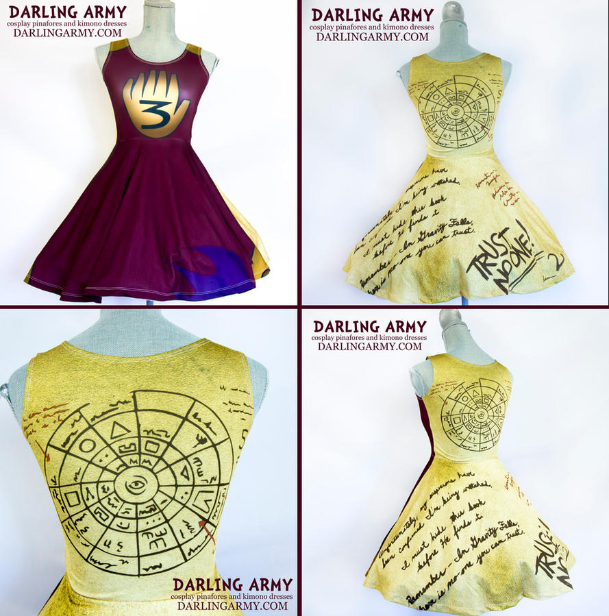 Gravity Falls Dipper Journal Cosplay Dress By Darlingarmy