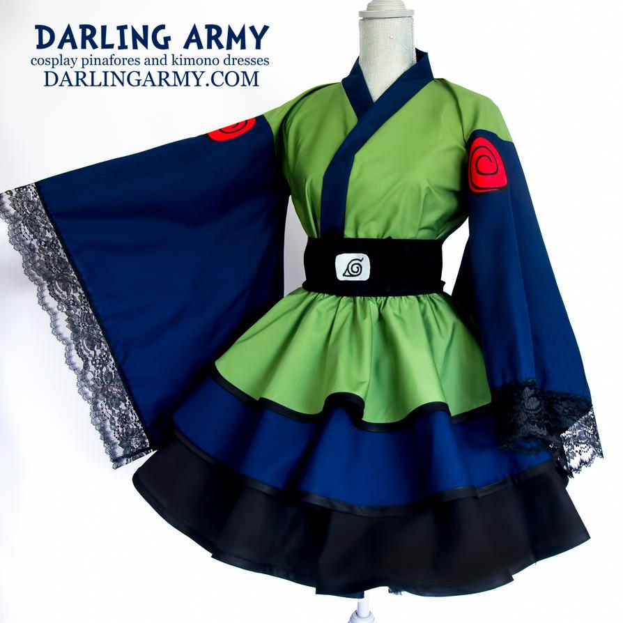 Kakashi Naruto Cosplay Kimono Dress by DarlingArmy