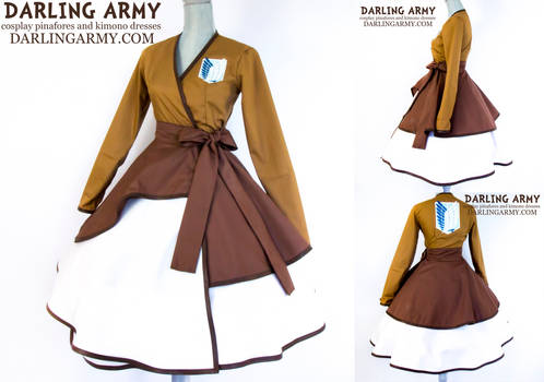 Attack on Titan Survey Corps Cosplay Wrap Dress