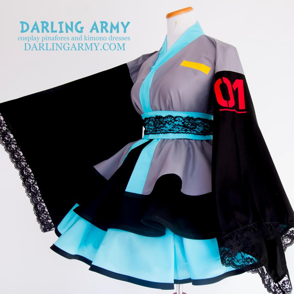 Hatsune Miku Cosplay Kimono Dress By Darlingarmy On Deviantart