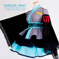 Hatsune Miku Cosplay Kimono Dress by DarlingArmy