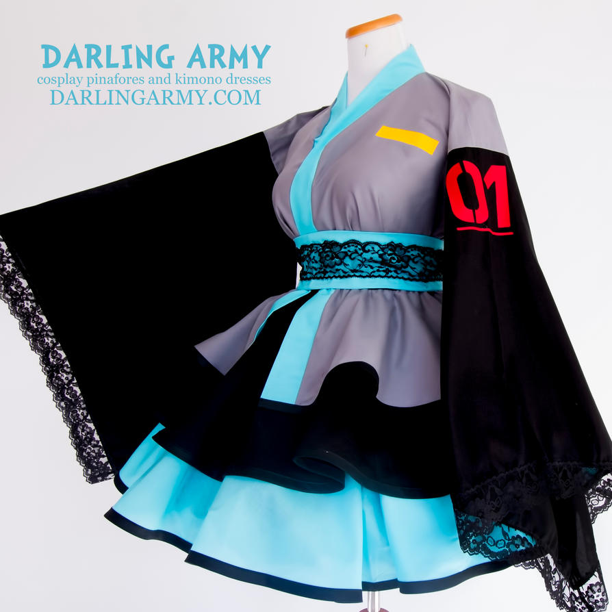 Hatsune Miku Cosplay Kimono Dress by DarlingArmy on DeviantArt