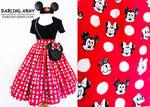 Polka Dot Pals Disney Vintage Inspired Skirt