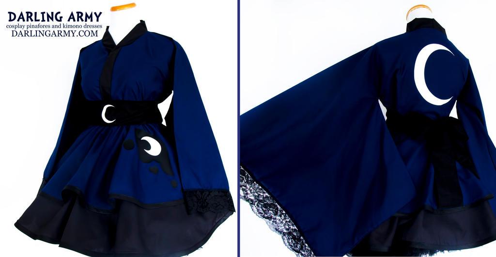 Solid Princess Luna Mlp Cosplay Kimono Dress By Darlingarmy On Deviantart