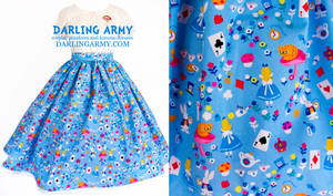 Alice in Wonderland Vintage Insp Disneybound Skirt