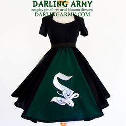 Slytherin Hogwarts House Tea Length Skirt by DarlingArmy