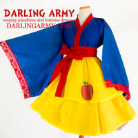 Snow White Disneybound Cosplay Kimono Dress by DarlingArmy