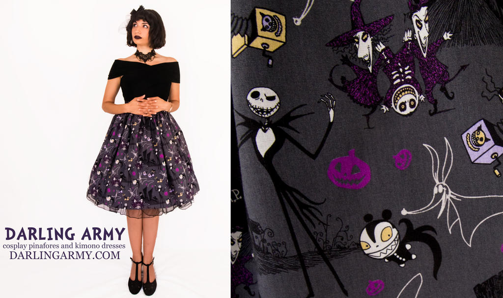 Nightmare Before Christmas Tea Length Skirt by DarlingArmy on ...