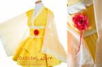 Belle Beauty and the Beast Yellow Kimono Dress
