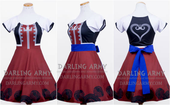 Sora Kingdom Hearts I Cosplay Printed Dress