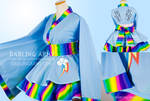 Rainbow Dash MLP Cosplay Kimono Dress