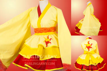 Sunset Shimmer MLP Cosplay Kimono Dress by DarlingArmy