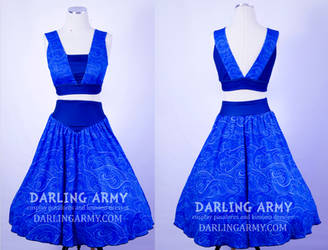 Lapis Lazuli Vintage Inspired Play Suit Cosplay by DarlingArmy