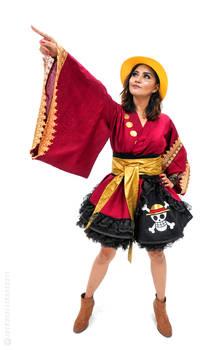 Monkey D Luffy One Piece Cosplay Kimono Dress
