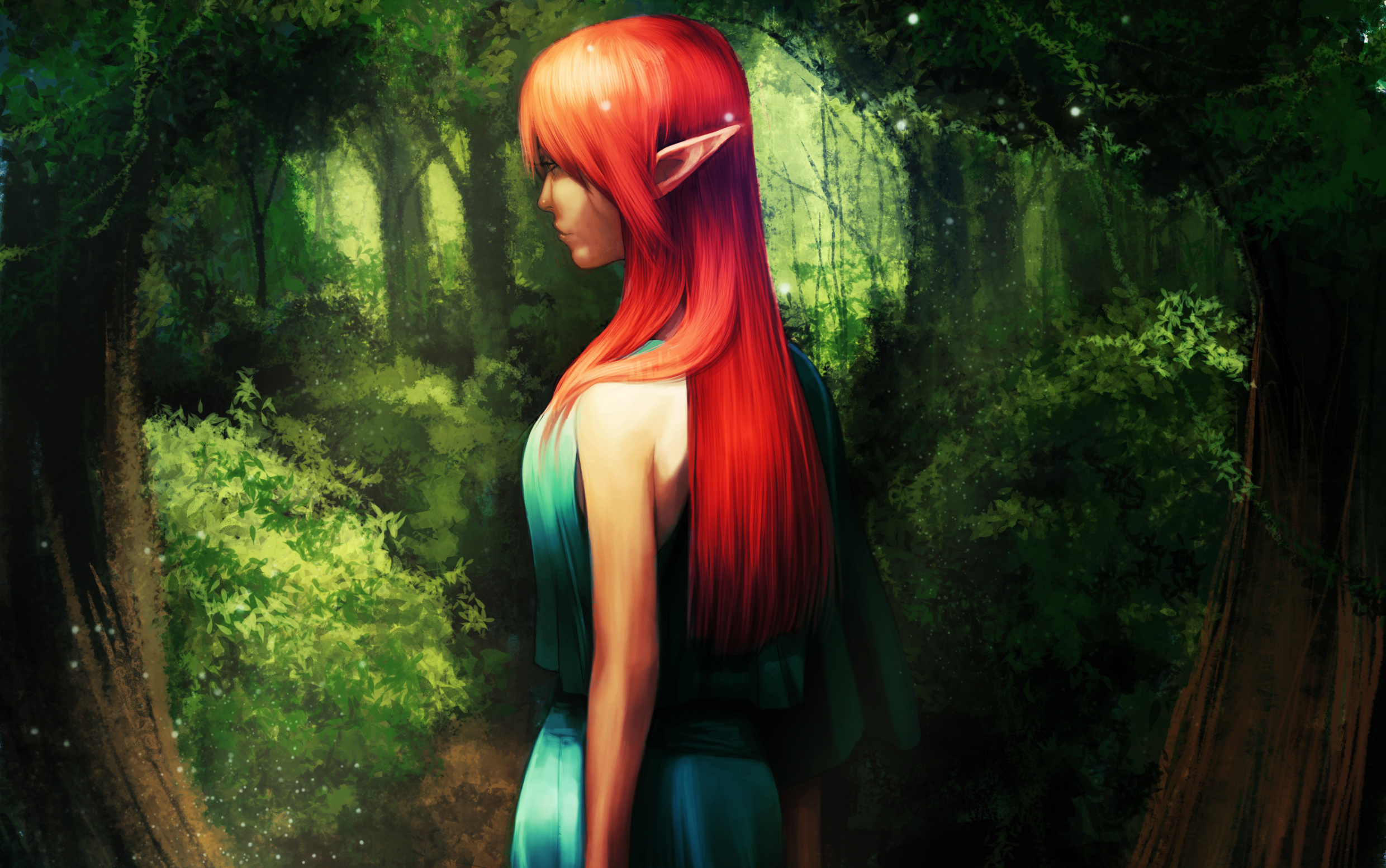 Redheaded elf girl art porncraft kinky butts