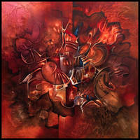 Terra abstract painting by Amytea