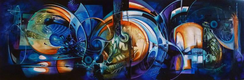pandora abstract painting