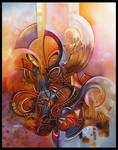 cocoon abstract painting