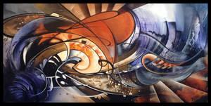 Waving abstract painting