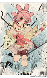pink and watercolor warrior by happyparadise