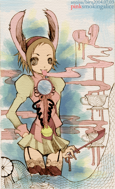 pink smoking alice by happyparadise