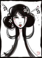geisha scribble by Araniel
