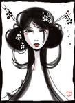geisha scribble